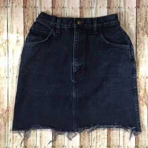 Vintage Forenza Black Jean Skirt.